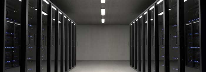 View of a server room