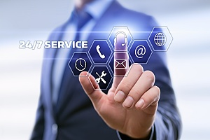 24/7 service provided by an experienced managed IT services provider