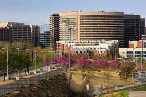 Aerial view of Crystal City, Virginia