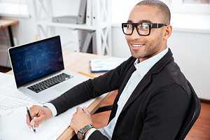 IT worker at desk