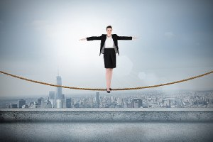 A woman performing a balancing act.Managed IT services is a balancing act between manpower, cost and consistency