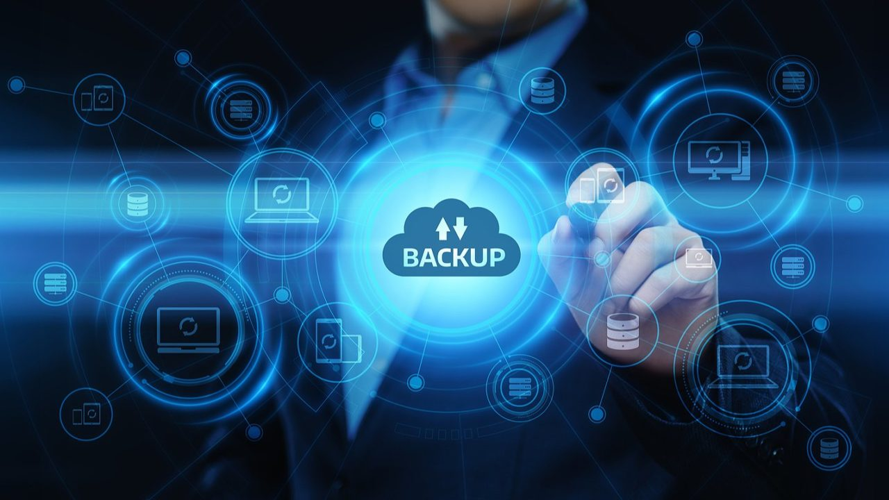 An illustration of business data backup storage