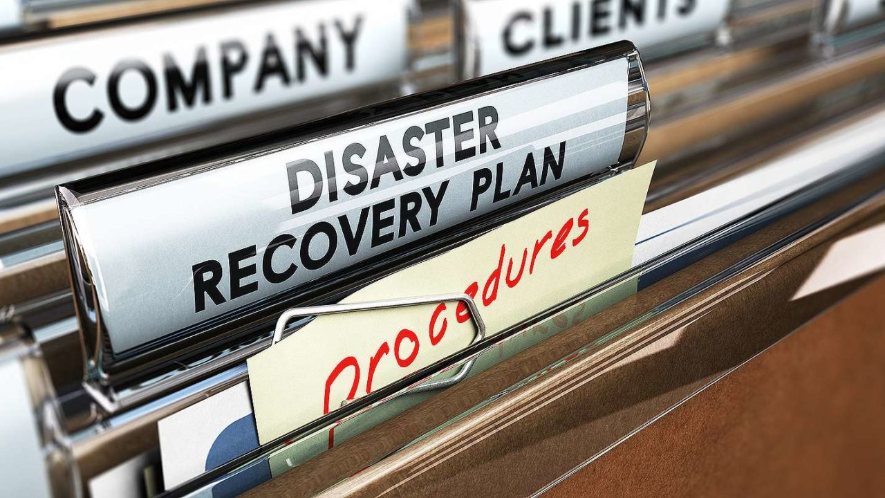 File tab with the text Disaster Recovery Plan