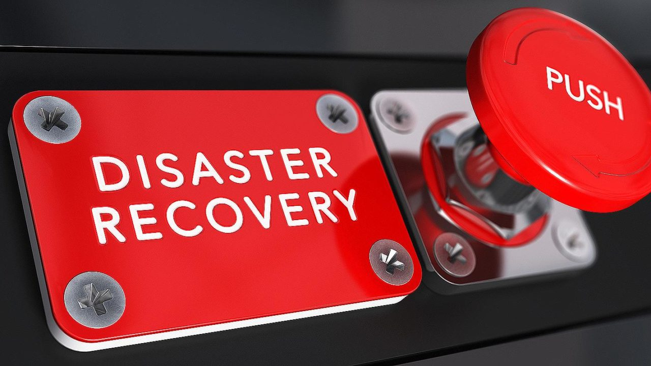 Concept image for disaster recovery plan, business continuity and crisis communication