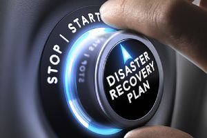 Disaster recovery plan control button