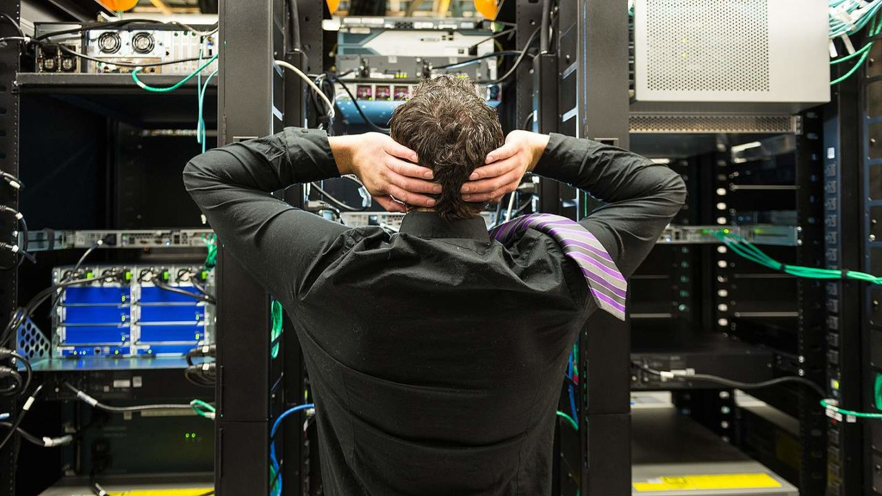 Trouble in data center. Disaster recovery plans help organizations recuperate from unplanned incidents