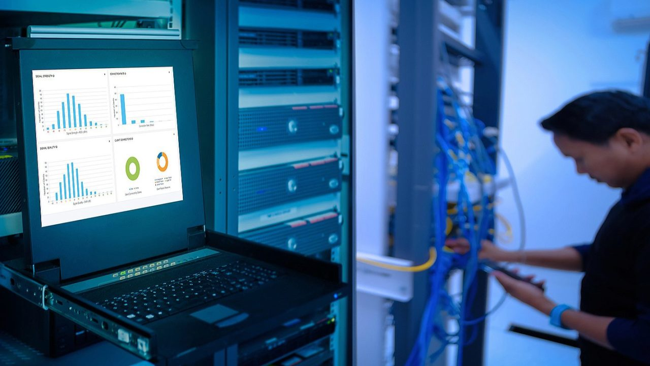 A system administrator in a data center. There are several benefits of a network security assessment
