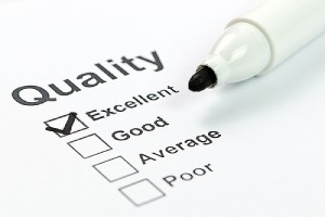 Quality control form and marker. Consulting CTOs can establish quality standards for all technology used