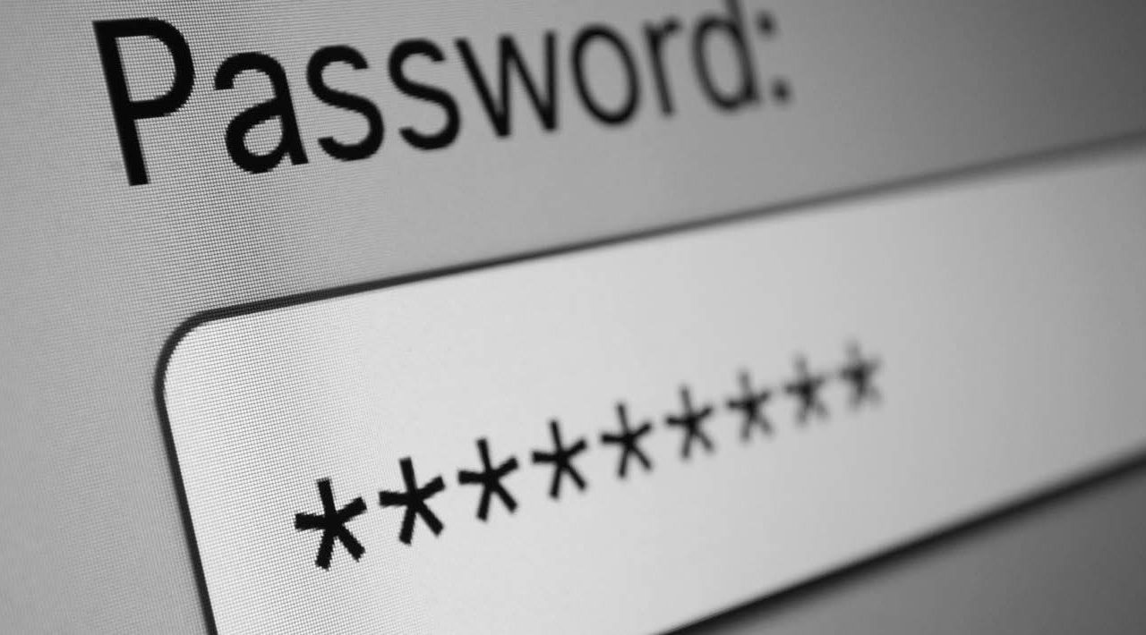 password entered in field