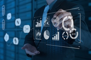 data planning and management system with business analytics concept