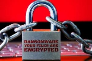 lock chain ransomware concept