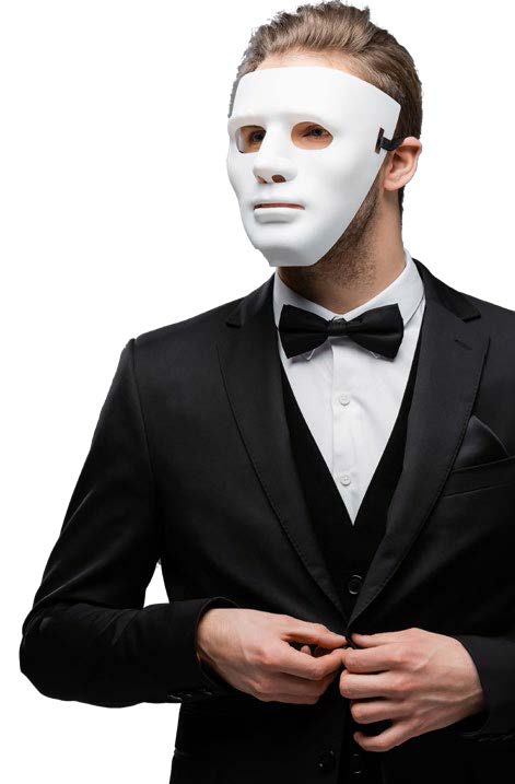 masked man symbolizes a double agent