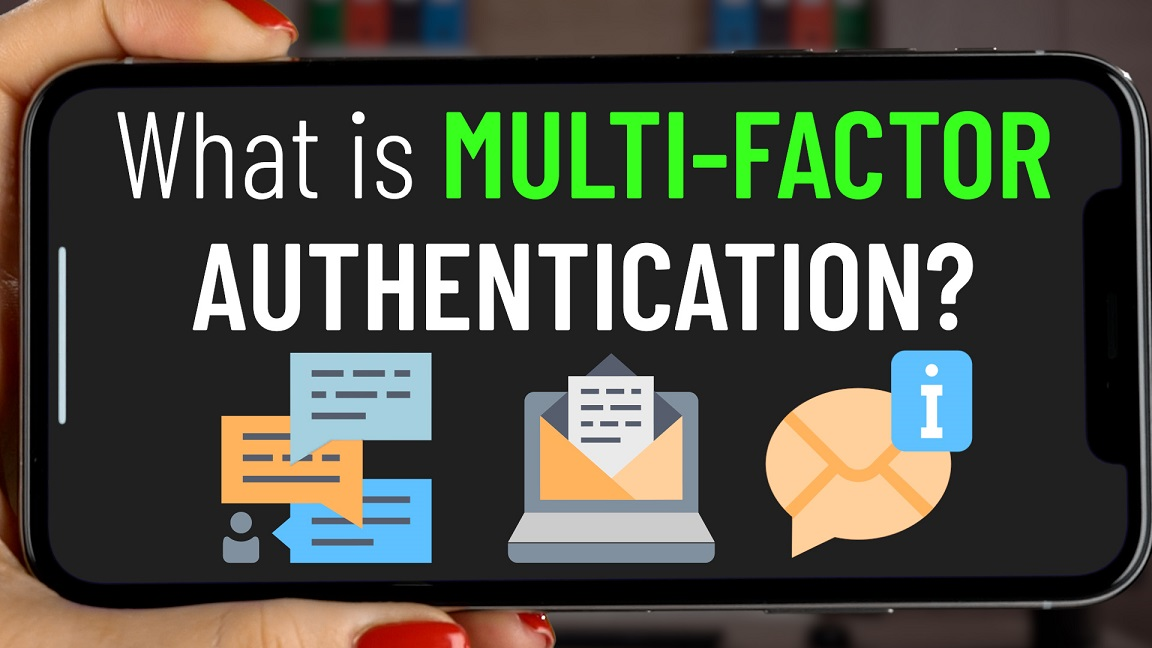 phone showing multi-factor authentication