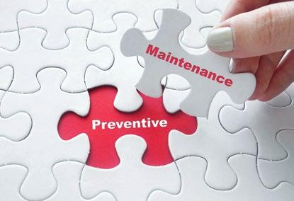 puzzle showing preventive maintenance