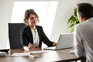 woman happy with cybersecurity consulting